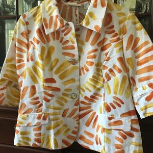 Chico's spring jacket and t shirt L